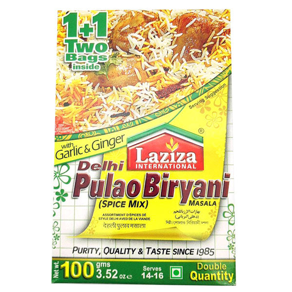 Laziza Delhi Pulao Biryani Masala 100 gm - Sabadda - Indian Online Grocery Store in UK