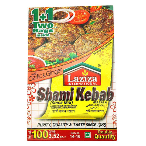 Laziza Shami Kebab Masala 100 gm - Sabadda - Indian Online Grocery Store in UK