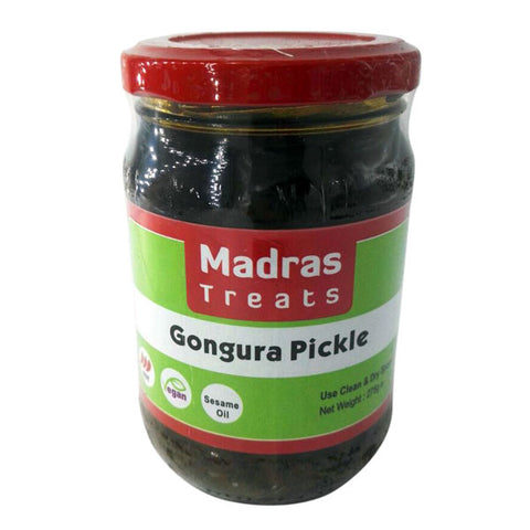 Madras Treats Gongura Pickle 275 gm - Sabadda - Indian Online Grocery Store in UK