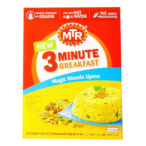 MTR 3 Minute Breakfast Magic Masala Upma 230 gm - Sabadda - Indian Online Grocery Store in UK