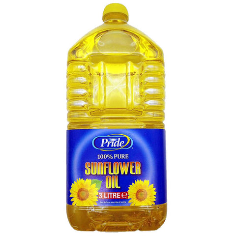 Pride 100% Pure Sunflower Oil 3 Litre - Sabadda - Indian Online Grocery Store in UK