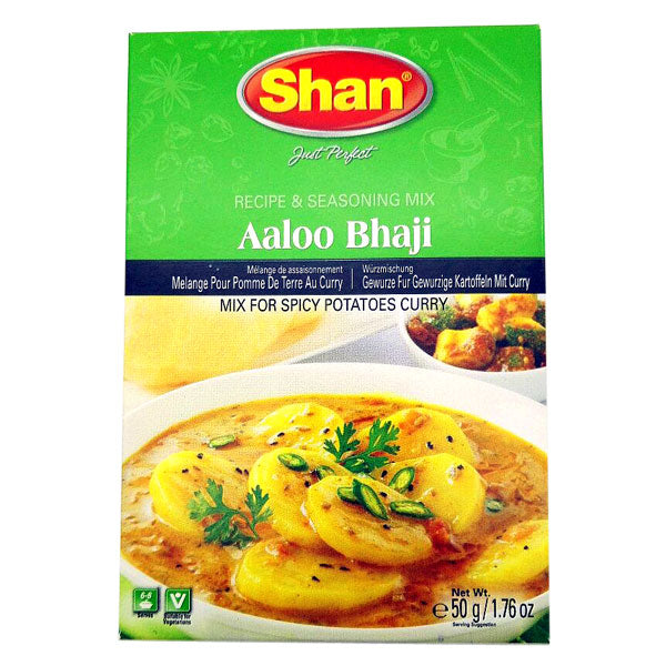 Shan Aaloo Bhaji Seasoning Mix 50 gm - Sabadda - Indian Online Grocery Store in UK