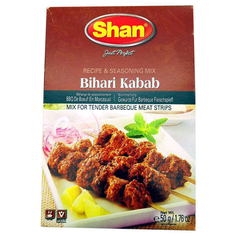 Shan Bihari Kabab Seasoning Mix 50 gm - Sabadda - Indian Online Grocery Store in UK