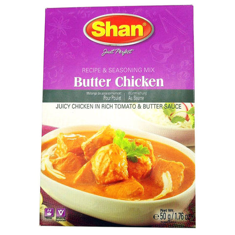 Shan Butter Chicken Seasoning Mix 50 gm - Sabadda - Indian Online Grocery Store in UK
