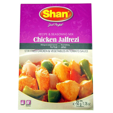 Shan Chicken Jalfrezi Seasoning Mix 50 gm - Sabadda - Indian Online Grocery Store in UK