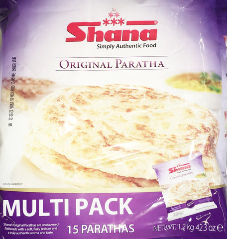 Shana Original Paratha Multi Pack 15 Parathas 1.2 kg - Sabadda - Indian Online Grocery Store in UK