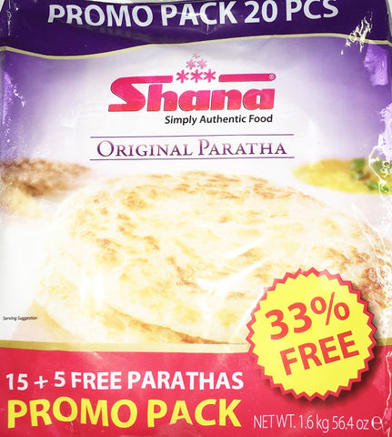 Shana Original Paratha Promo Pack 1.6 kg (15 + 5 Free Paratha) - Sabadda - Indian Online Grocery Store in UK