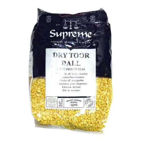 Supreme Dry Toor Dall 2 kg - Sabadda - Indian Online Grocery Store in UK