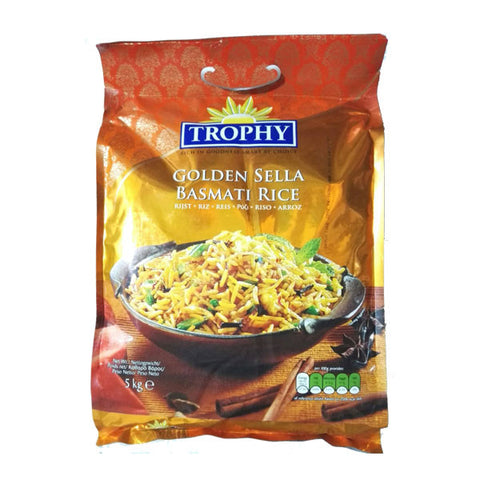 Trophy Golden Sella Basmati Rice 5 kg - Sabadda - Indian Online Grocery Store in UK