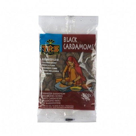 TRS Black Cardomoms 50 gm - Sabadda - Indian Online Grocery Store in UK