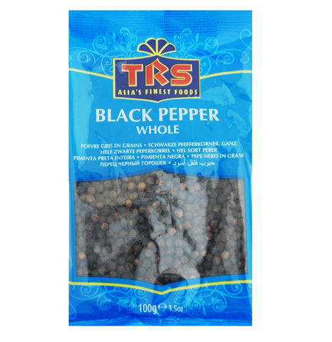 TRS Black Pepper Whole 100 gm - SabAdda - Asian Grocery Store