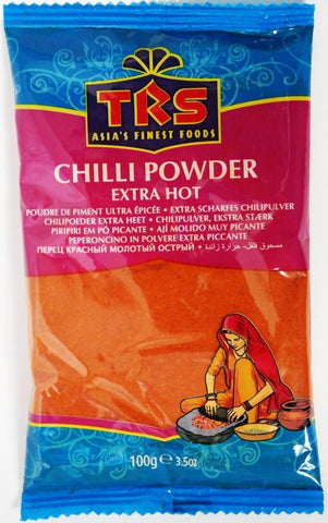 TRS Chilli Powder Extra Hot 100 gm - SabAdda - Asian Grocery Store