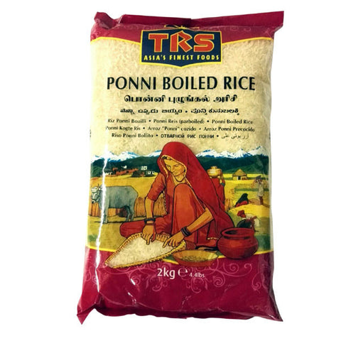 TRS Ponni Boiled Rice 2 kg - Sabadda - Indian Online Grocery Store in UK