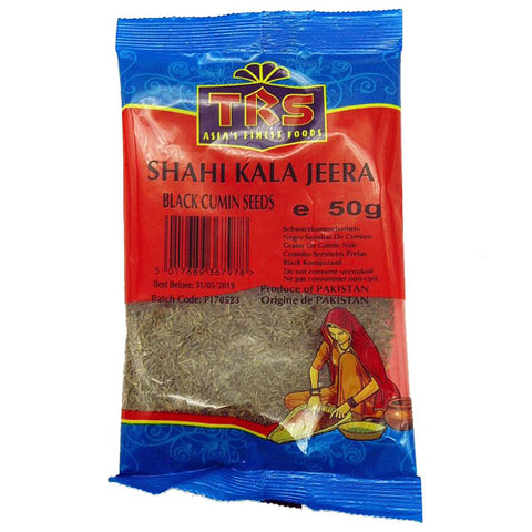 TRS Shahi Kala Jeera (Black Cumin Seeds) 50 gm - Sabadda - Indian Online Grocery Store in UK
