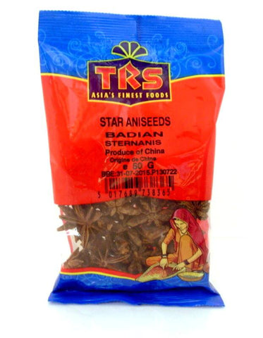TRS Star Aniseed (Badian) 50 gm - SabAdda - Asian Grocery Store