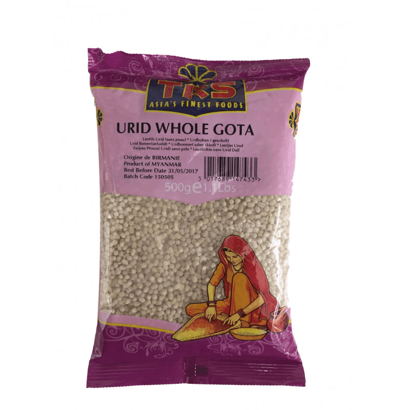 TRS Urid Whole Gota 500 gm - Sabadda - Indian Online Grocery Store in UK