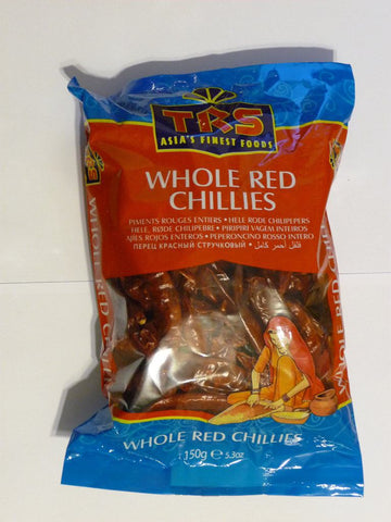 TRS Chillies Whole Red (Long) 150 gm - SabAdda - Asian Grocery Store