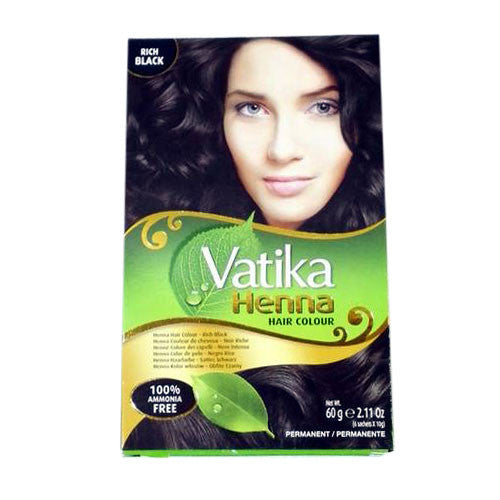 Vatika Henna Hair Color (Rich Black) 60 gm - Sabadda - Indian Online Grocery Store in UK