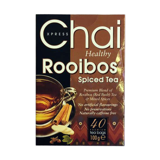 Xpress Chai Healthy Rooibos Spiced Tea 100 gm (40 Bags) - Sabadda - Indian Online Grocery Store in UK