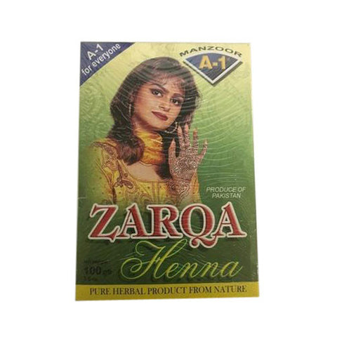 Zarqa Henna Powder 100 gm - Sabadda - Indian Online Grocery Store in UK