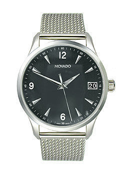 Movado Circa Three-hand Stainless Steel Mens watch #0606802