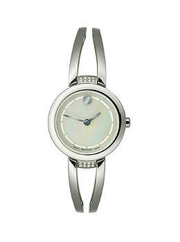 Movado Amorosa Duo with Diamonds Stainless Steel Bangle Womens watch #0606813