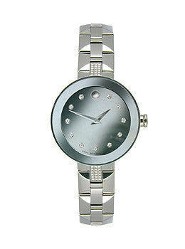 Movado Sapphire Two-Hand Stainless Steel Womens watch #0606815