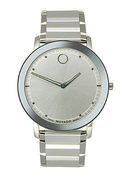 Movado Sapphire Two-Hand Stainless Steel Mens watch #0606881