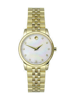 Movado Museum Classic Two-Hand Gold Stainless Steel Womens watch #0606998