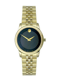 Movado Museum Classic Two-Hand Gold Stainless Steel Womens watch #0607005