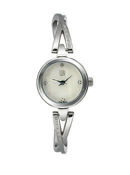 ESQ Sienna Diamond Encrusted Band White Mother-of-Pearl Dial Womens Watch #07101325