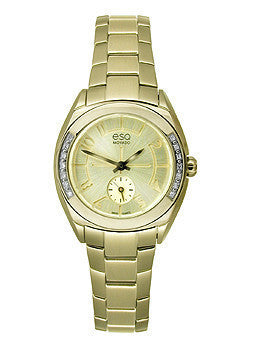 ESQ Origin Gold-Tone Stainless Steel with Diamonds Womens watch #07101425