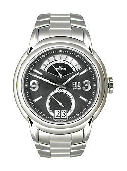 ESQ Movado ESQ Swiss Quest Retrograde Black Dial Mens Watch #07301235