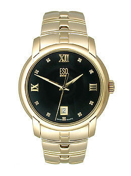 ESQ by Movado Muse Gold-plated Bracelet Black Dial Mens watch #07301345