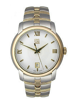 ESQ by Movado Muse Two-tone Bracelet White Dial Mens watch #07301346