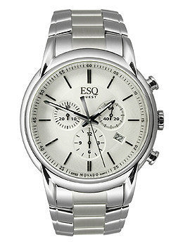 ESQ Movado Quest Chronograph Stainless Steel Mens watch #07301397