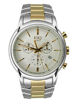ESQ Movado Quest Chronograph Two-tone Stainless Steel Mens watch #07301399