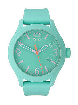 ESQ Movado One Turquoise Silicone Wrapped Unisex watch #07301439