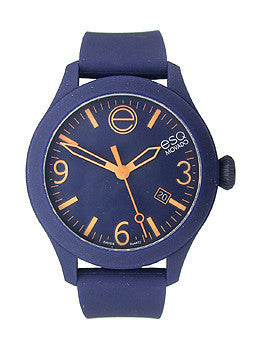 ESQ Movado One Navy Silicone Wrapped Unisex watch #07301441