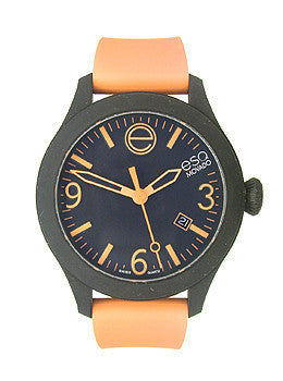 ESQ Movado One Black & Orange Silicone Wrapped Unisex watch #07301443