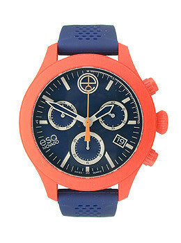 ESQ Movado One Chronograph Red & Navy Silicone Unisex watch #07301463