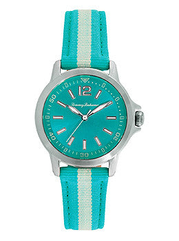 Tommy Bahama Island Breeze Turquoise Nylon Strap Womens watch #10018370
