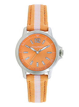 Tommy Bahama Island Breeze Coral Nylon Strap Womens watch #10018371