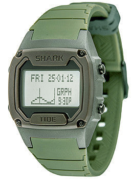Freestyle Tide Trainer Olive Silicone Strap Unisex watch #10019170