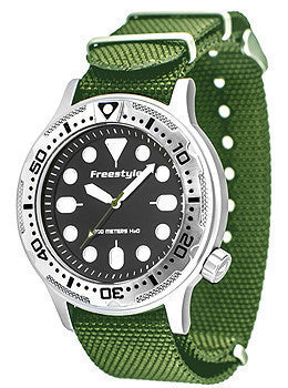 Freestyle Ballistic Diver Olive Nylon Strap Mens watch #10019173