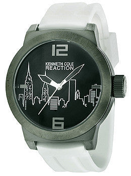 Kenneth Cole Reaction White Silicone Strap Mens watch #10020082