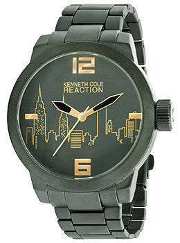 Kenneth Cole Reaction Three-Hand Gunmetal Alloy Mens watch #10020084