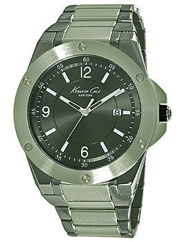Kenneth Cole New York Three-Hand Gunmetal Stainless Steel Mens watch #10020834