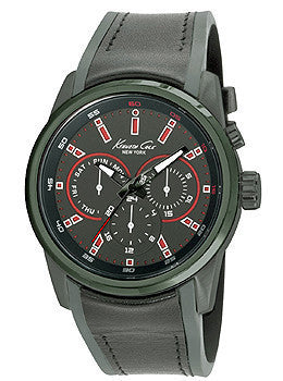 Kenneth Cole New York Multifunction Black Silicone Strap Mens watch #10022536