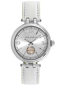 Ted Baker Smart Casual White Leather Strap Womens watch #10023474